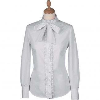 Cordings White Bow Pie Crust Shirt Different Angle 1