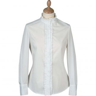 Cordings White Bow Pie Crust Shirt Main Image