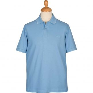 Cordings Sky Blue Branscombe Pique Polo Different Angle 1