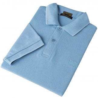 Cordings Sky Blue Branscombe Pique Polo Main Image