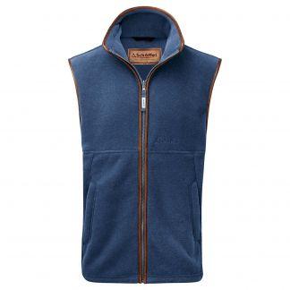 Cordings Schoffel Denim Blue Oakham Fleece Gilet Main Image