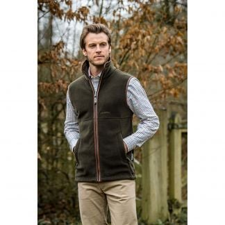 Cordings Schoffel Olive Green Oakham Fleece Gilet Different Angle 1