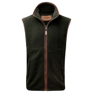 Cordings Forest Green Schoffel Oakham Fleece Gilet  Different Angle 1