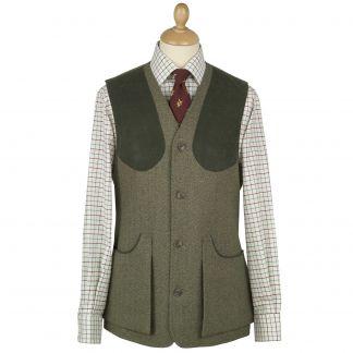 Cordings Firley Herringbone Tweed Shooting Waistcoat Main Image