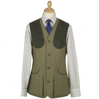 Cordings House Check Tweed Shooting Waistcoat Main Image