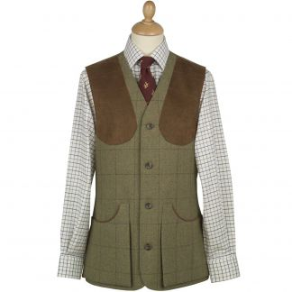 Cordings 21oz Windowpane Tweed Shooting Waistcoat Main Image