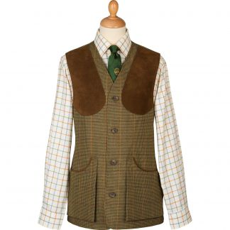 Cordings Sporting Check Tweed Shooting Waistcoat Main Image