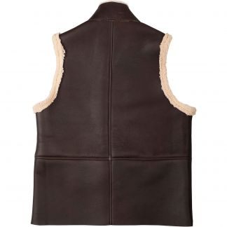 Cordings English Sheepskin Gilet Different Angle 1