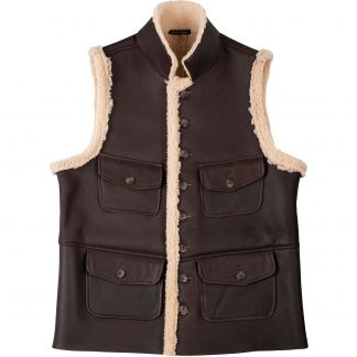 Cordings English Sheepskin Gilet Main Image