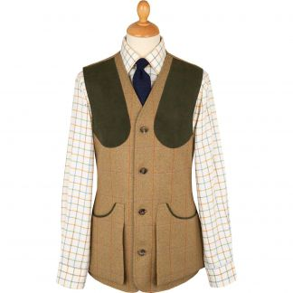 Cordings Jones Marl Tweed Shooting Waistcoat Main Image