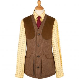 Cordings Brown Hunting Tweed Shooting Waistcoat Main Image