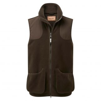 Cordings Schoffel Gunnerside Shooting Vest Dark Olive Different Angle 1