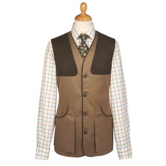 Cordings Hunter Green Cotton Safari Shooting Waistcoat  Main Image