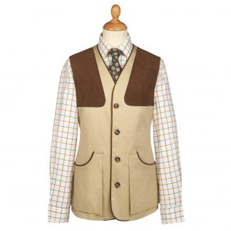Cordings Khaki Cotton Safari Shooting Waistcoat  Main Image