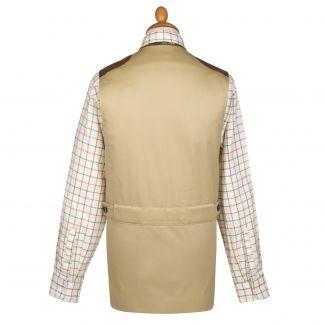 Cordings Khaki Cotton Safari Shooting Waistcoat  Different Angle 1