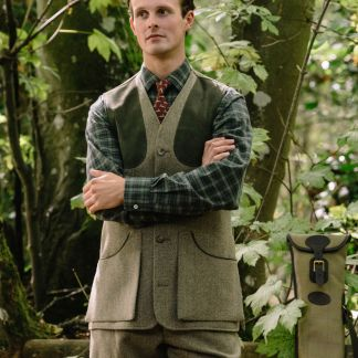 Cordings Firley Herringbone Shooting Waistcoat Different Angle 1