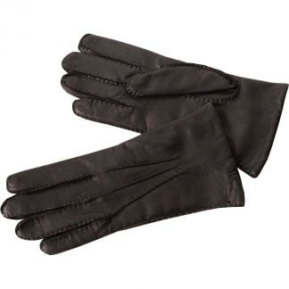 Cordings Black Capeskin Handsewn Leather Gloves Different Angle 1