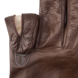Cordings Brown Leather Shooting Gloves (Right Handed) Different Angle 1