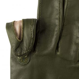 Cordings Green Leather Shooting Gloves (Left Handed) Different Angle 1