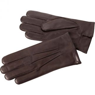 Cordings Brown Classic Leather Gloves Main Image