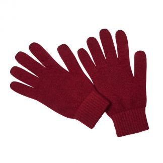 Cordings Bordeaux  Cashmere Glove Different Angle 1