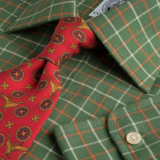 Cordings Green Red Pheasant Check Shirt  Main Image