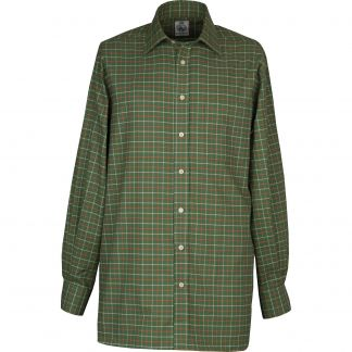 Cordings Green Red Pheasant Check Shirt  Different Angle 1