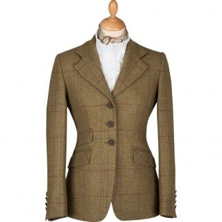 Cordings Green and Red Check T.ba Double Vent Jacket Main Image