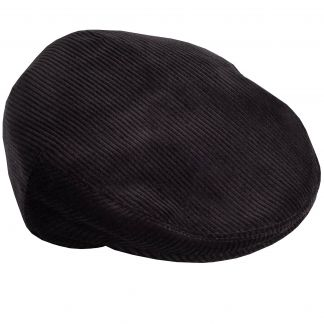 Cordings Black Corduroy Garforth Cap  Main Image