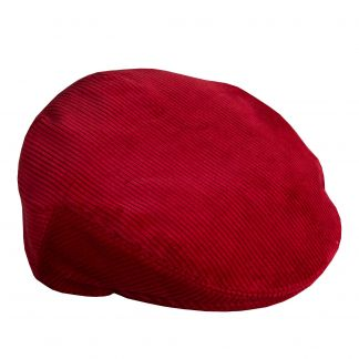Cordings Bordeaux Corduroy Garforth Cap  Different Angle 1