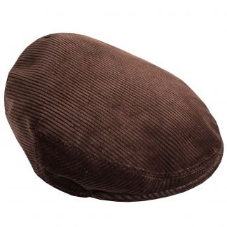 Cordings Brown Corduroy Garforth Cap  Main Image