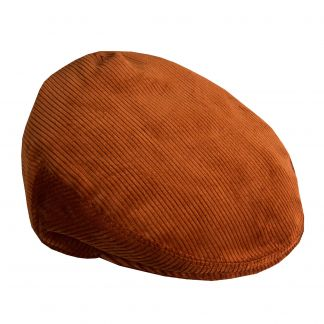 Cordings Cinnamon Corduroy Garforth Cap  Different Angle 1