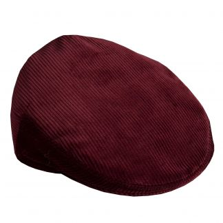 Cordings Wine Corduroy Garforth Cap  Main Image