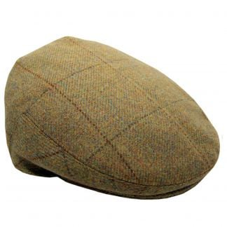 Cordings 21oz Windowpane Tweed Garforth Cap Main Image