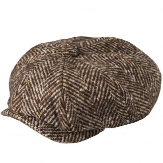 Cordings Brown Urban Piccadilly Tweed Cap Main Image