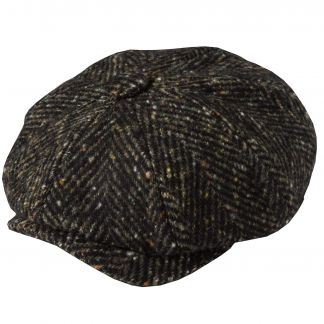 Cordings Olive Urban Piccadilly Tweed Cap Main Image