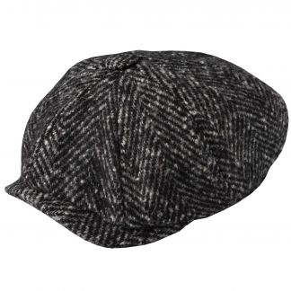 Cordings Charcoal Urban Piccadilly Tweed Cap Different Angle 1