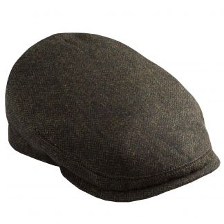Cordings Green Herringbone York Cap  Main Image