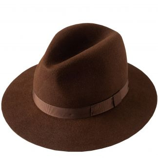 Cordings Chestnut Crushable Fur Felt Trilby Main Image