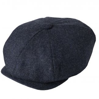 Cordings Blue Tweed Redford Curved Cap Different Angle 1