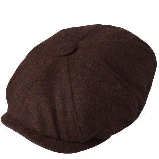 Cordings Brown Tweed Redford Curved Cap Main Image