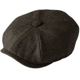Cordings Green Grey Tweed Redford Curved Cap Different Angle 1