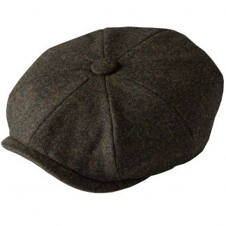 Cordings Green Grey Tweed Redford Curved Cap Main Image