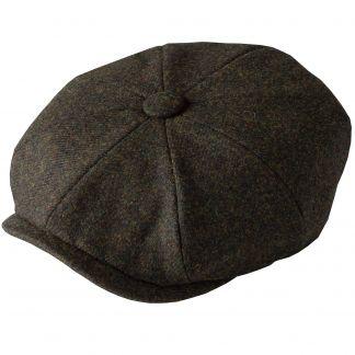 Cordings Green Grey Tweed Redford Curved Cap Main Image