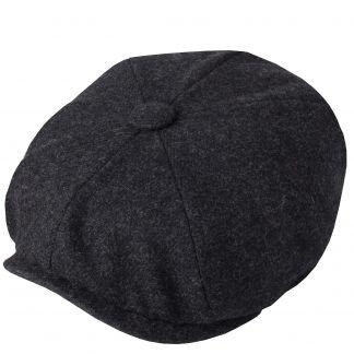 Cordings Charcoal Grey Tweed Redford Curved Cap Main Image