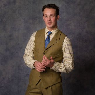 Cordings House Check Tweed Collared Waistcoat  Different Angle 1