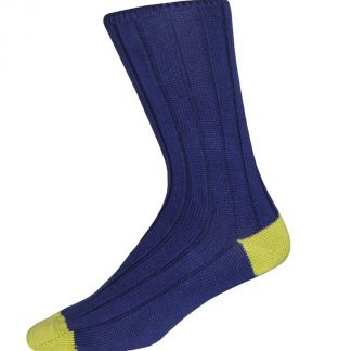Cordings Blue Green Cotton Heel & Toe Socks Main Image