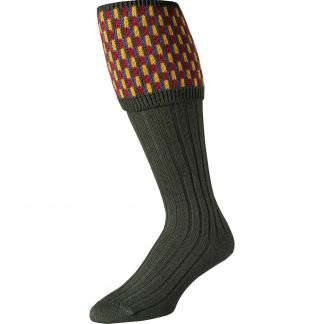 Cordings Loden Patterned Top Shooting Stocking Main Image