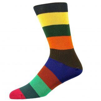 Cordings Multi coloured Striped Elevenses Sock Main Image