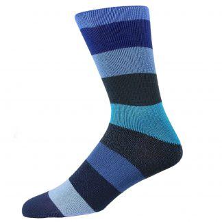 Cordings Navy Striped Elevenses Sock Main Image